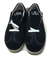 Roots USA Olympic Athlete Ceremony Parade Blue Suede Shoes