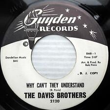 DAVIS BROTHERS doowop PROMO 45 WHY CAN'T THEY UNDERSTAND / BEST YOU CAN DO e0800