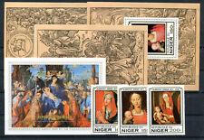 Niger 651/53 Block 22 + Einzelblöcke postfrisch A. Dürer - Gemälde .......2/2030