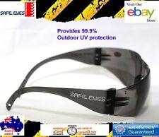 30x pairs  Safety Glasses grey smoke lens Australian standard ++