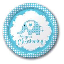 Articoli blu animali battesimo per feste e occasioni speciali