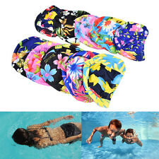 Femmes florales spandex Stretch natation bonnet bain chapeau IU