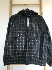 SUPREME LACOSTE REFLECTIVE GRID  ANORAK JACKET  DS SIZE L BLACK