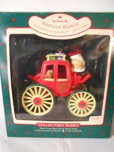 Hallmark HERE COMES SANTA Ornaments #10  1988  Kringle Koach