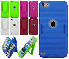 For iPod Touch 6 6th Gen COMBO Belt Clip Holster KickStand Cover +Screen Guard