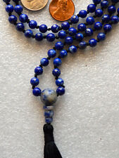 Lapis Lazuli Hand Knotted Mala Beads Necklace - Energized