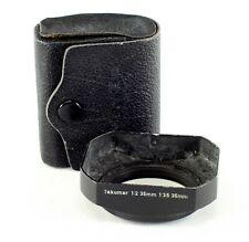 Asahi Pentax Metal Lens Shade - Takumar 3.5/2 mm and 3.5/35, 49 mm. screw-in