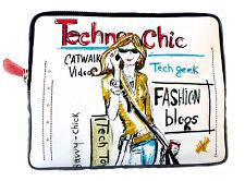 "Brighton Fashionista ""Techno Chic"" iPad Padded Case / Cover - Colorful Art - NWT"