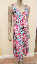 Slim Lines - Pink / Multi Stretch Jersey Body Control Strappy Dress - size L