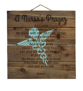 A Nurse's Prayer - Decorative WOOD Wall Art
