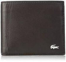 NEW LACOSTE MENS'S BROWN BILLFOLD CREDIT CARD COIN POCKET WALLET