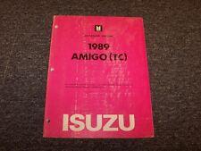 1989 Isuzu Amigo Convertible Workshop Shop Service Repair Manual S XS 2.3L 2.6L