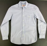 Brooks Brothers Men's Red Fleece Solid Blue Button Down Shirt Sz. Sm X Slim Fit