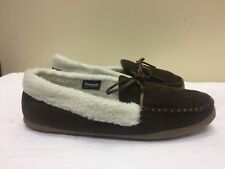 WEATHERPROOF MEN THINSULATE 40 GRAM BROWN MOCCASIN SLIPPERS SIZE 9.5-10.5