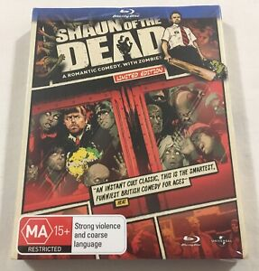 Shaun of the Dead (2004) - Limited Ed. Comic Slipcover Blu-Ray Region Free | New