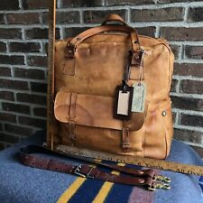 HANDMADE PARAGUAY VINTAGE 1970s TAN NUDE LEATHER DUFFEL GYM SHOULDER BAG R$998