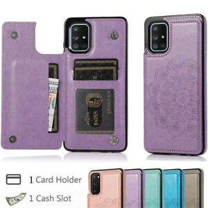 Floral Case Leather Case for Samsung S21 Ultra S20 A21S Wallet Shockproof Cover