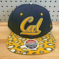 Cal California Golden Bears NCAA College Zephyr Snapback Cap EUC Hat Leopard