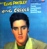 "ELVIS PRESLEY WITH THE JORDANAIRES 7""  EP  1958  OST KING CREOLE  DIXIELAND ROCK"