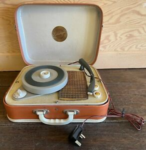 Vintage Portable PORTADYNE Record Player - 1960's - Working