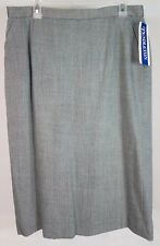 NWT Pendleton gray wool blend straight pencil skirt ladies womens size 16 $98.00