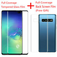 Samsung Galaxy S10 Plus S10e Full Protective Tempered Glass Protector+Back Film