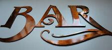 "BAR Metal Art Sign Metal Wall Art Small Version 10"" x 5 1/2"""
