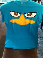 Disney Phineas and Ferb Mens T-Shirt New Size L  Showing Eyes and Duck Bill