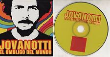 LORENZO JOVANOTTI CD single EL OMBLIGO DEL MUNDO cardsleeve PROMO SPAIN 2001
