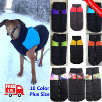 Waterproof Pet Dog Clothings Warm Autumn Winter Padded Coat Vest Jacket Apparel