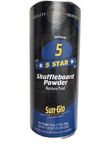 Sun-Glo Shuffleboard Powder 5 Five Star FREE Shipping Brand New