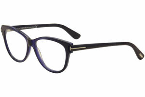 Tom Ford Women's Eyeglasses TF5287 TF/5287 092 Navy Cat Eye Optical Frame 55mm