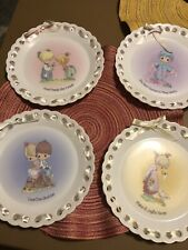 Precious Moments Collectible Plates Lot Of 4