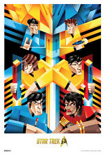 Star Trek Cubist Trek 50th Anniversary TV Show Poster 13x19 inch