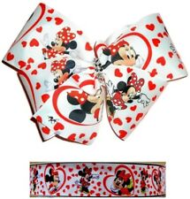 "MINNIE MOUSE Large Hair Bow Clip Big 8"" 8 Inch Jojo Disney Mickey Love Heart"