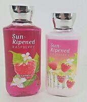 Sun Ripened Raspberry 2 Piece Gift Set Bath Body Works Body Lotion Shower Gel