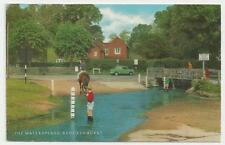 Postcard, J Salmon, 1-57-11-1, The Waterspalsh, Brockenhurst, 1977