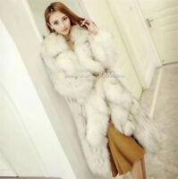 Gewebter langer Abschnitt Pelzmantel Damenmode Lose Vogue Mantel Warm Fur-Coat