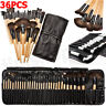 36pcs Cosmetic Eyebrow Shadow Lip Brush Make Up Brushes Set Kit + Pouch Bag