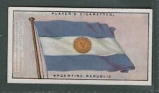 Flag Of Argentine Republic 1920s Ad Trade Card