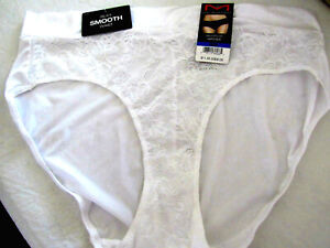 Maidenform Women's Smooth Luxe Hipster Size XL/8 White Soft Silky Sexy 1 Pair