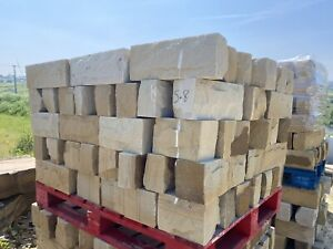 Genuine Yorkshire York Stone 140mm Dressed Pitch Faced Walling