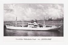 RPPC,M.S.Gooiland,1-Stack,Oean Liner/Freighter,Konin.Hollandsche Lloyd,c.1950s