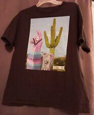EUC ~ Boy's Size Large Fortnite Llama T-Shirt ~ Black ~ HUGE SALE!!!