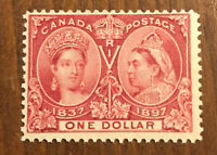 🔥 Canada Stamp # 61 Mint OG H $1000 Low Price! Jubilee 🔥