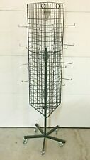 Merchandise Rolling Triangle Rack Kit- Metal Wire Grid 3-Sided Display Tower