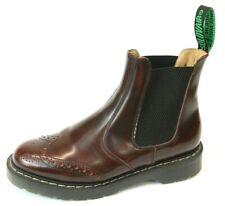 Solovair Men's Burgundy Leather Wingtip Chelsea Boots Size US 6 Uk 5