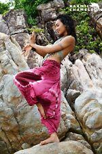 Harem Hippie Pants Tie Dye Pink Yoga Festival Loose Boho Festival Gypsy Aladdin