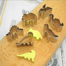 6Pc Stainless Steel Dinosaur Animal Baking Biscuit Cookie Cutter Cake Mould Mold
