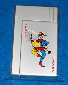 Joker Playing Card, Green Torch Lighter, New